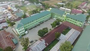 Gedung Belajar-Mengajar  Rabiah Adawiyah lama dan Baru Pondok Pesantren Ar-Raudlatul Hasanah Medan
