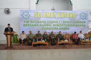 Sambutan Direktur kepada Tim Wasbang di Pesantren Ar Raudlatul Hasanah