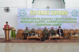Sambutan Kemenag Wilayah Sumut (Bpk. Drs. H. Kamaluddin M.A) Di Pesantren Ar Raudlatul Hasanah