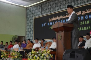 Sambutan Direktur Pesantren Ar-Raudlatul Hasanah, Drs. K.H. Rasyidin Bina, MA