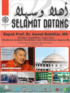 Prof. Dr. Amsal Bakhtiar, MA, berkunjung Ke Pesantren Ar-Raudlatul Hasanah