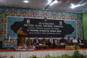 Orasi Menteri Agama RI di Podium Pesantren Ar-Raudlatul Hasanah