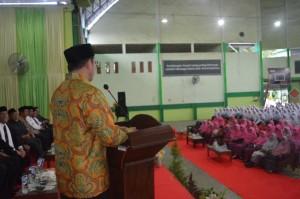 Sambutan Menteri Agama RI di Gedung Serba Guna Pesantren Ar-Raudlatul Hasanah, Medan