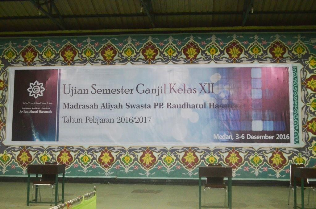 Ujian Umum Semester Genap Pesantren Tarbiyah Islamiyah Ar-Raudlatul Hasanah