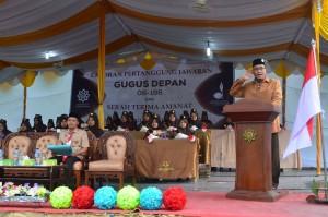 Sambutan Direktur Pesantren Ar-Raudlatul Hasanah KH. Drs. Rasyidin Bina, MA dalam Pembukaan LPJ GUDEP 06-196 Putri