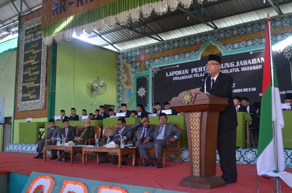 Sambutan dan Pembukaan Acara Laporan Pertanggungjawaban OPRH oleh KH. Drs. Rasyidin Bina, MA