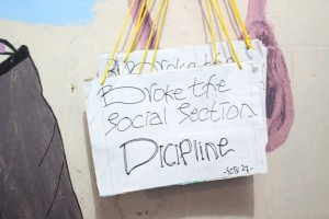 "Pamplet "" BROKE THE SOCIAL SECTION DISCIPLINE"