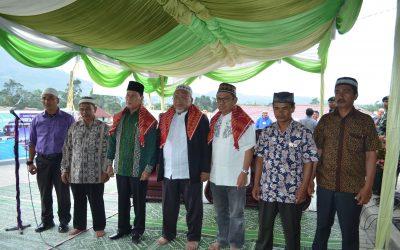 Ketua Umum Badan Wakaf Menghadiri Peresmian Masjid Baitul Makmur Desa Kutambelin