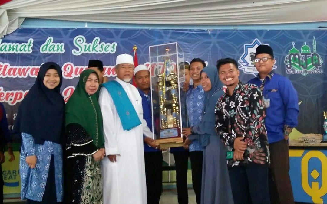 Ar-Raudlatul Hasanah Juara Umum di MTQ Ponpes Jabal Noor